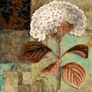 Baroque Hydrangea Patchwork Poster