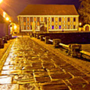 Baroque Town Of Varazdin Square At Evening Poster
