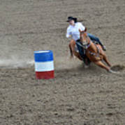 Barrel Racer Two Poster