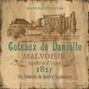 Barrel Wine Label 2 Poster