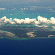 Barrier Island In Caribbean Poster