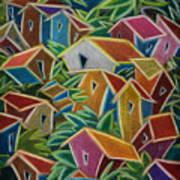 Barrio Lindo Poster by Oscar Ortiz
