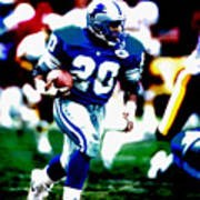 Barry Sanders On The Move Poster