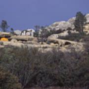 Base Camp - White Ledge Plateau - San Rafael Wilderness Poster