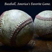 Baseball Americas Favorite Game Poster