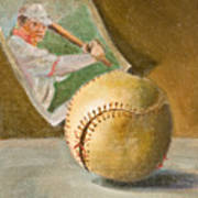 Baseball And Card Poster