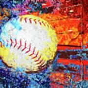 Baseball Art Version 6 Poster