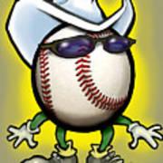 Baseball Cowboy Poster