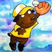 Baseball Dog 4 Poster by Scott Nelson