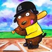 Baseball Dog Poster