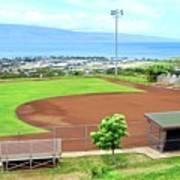 Baseball Field at Lahainaluna High School Poster