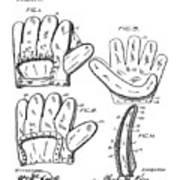 Baseball Glove Patent 1910 Poster