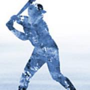 Baseball Player-blue Poster