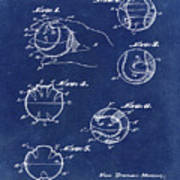 Baseball Training Device Patent 1961 Blue Poster