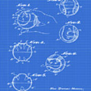 Baseball Training Device Patent 1961 Blueprint Poster