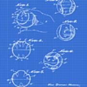 Baseball Training Device Patent 1961 Blueprint Poster