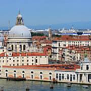 Basilica Della Salute And Punta Della Dogana In Venice Italy Poster