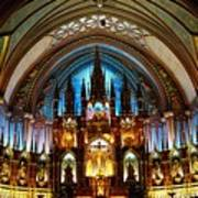 Notre - Dame Basilica - Montreal Poster
