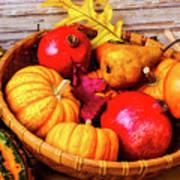 Basket Full Of Autumn Poster