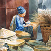 Basket Maker Poster by Sharon Freeman