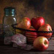 Basket Of Apples Poster