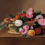 Basket Of Roses Poster