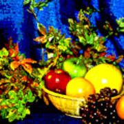 Basket With Fruit Poster