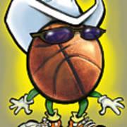 Basketball Cowboy Poster