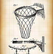 Basketball Goal Patent 1924 Poster
