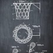 Basketball Net Patent 1951 In Chalk Poster