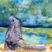 Basking In The Moonlight Poster
