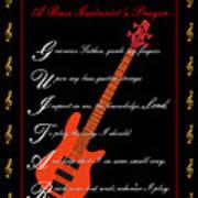 Bass Guitar_1 Poster by Joe Greenidge