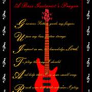 Bass Guitar_2 Poster by Joe Greenidge