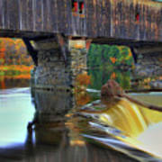 Bath Covered Bridge In Autumn Poster