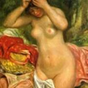 Bather Arranging Her Hair 1893 Poster