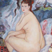 Bather  My Reproduction Of Renoirs Work Poster