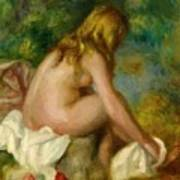 Bather Seated Nude Poster