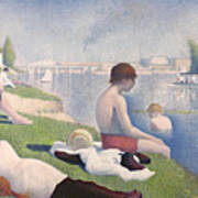 Bathers At Asnieres Poster by Georges Pierre Seurat