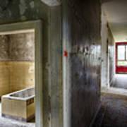 Bathroom In Deserted Building Poster