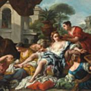 Bathsheba At Her Bath Poster