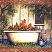 Bathtub Garden Poster