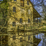 Batsto Gristmill Reflection Poster
