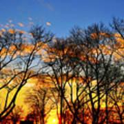 Battery Park Sunset Poster