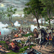 Battle Of Chancellorsville - Death Of Stonewall Poster