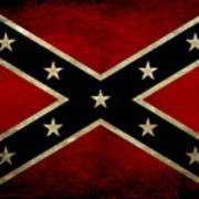 Battle Scarred Confederate Flag Poster