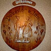 Bavarian Inn Willkommen Poster
