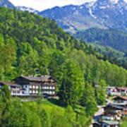 Bavarian Mountainside Poster