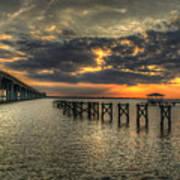 Bay Bridge Sunset Poster