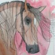 Bay Horse Watercolor Poster