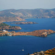 Bay View On Patmos Island Greece Poster